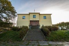 staricase和入口对Arkivet,一个博物馆的图片在克里斯蒂安桑,大厦是总部盖世太保的下 库存照片