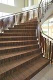 Staricase espiral atapetado Fotografia de Stock