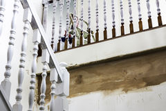 Staricase Renovation. A Staircase being painted and renovated Royalty Free Stock Image