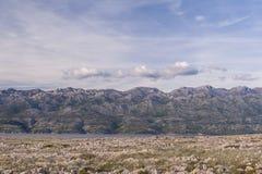 Starigrad Paklenica i Velebit widok górski, Chorwacja Zdjęcia Stock