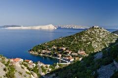 Starigrad pequeno por Senj Imagens de Stock