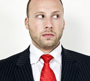 Staring businessman Stock Image
