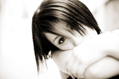 Staring girl Stock Image