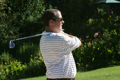 Staring golfer Stock Photo