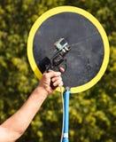 Staring gun at the running race Stock Photo