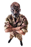 Staring soldier Royalty Free Stock Photo