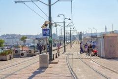 Starion de la tranvía en Estambul Foto de archivo