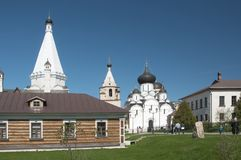 Staritsky Holy Dormition monastery, Russia, Tver region: sauna, Royalty Free Stock Photography