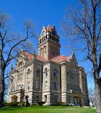 Starke County Courthouse. This is a Spring picture of the Starke County Courthouse in Knox, Indiana.  The courthouse was designed by Wing & Mahurian; Caldwell & Royalty Free Stock Photography