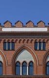 Stark design, blå himmel Royaltyfri Foto
