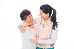 Stark förbindelse mellan modern och dottern Royaltyfria Foton