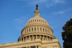 Stark Förenta staternaKapitoliumbyggnad, USA-kongress, Washington DC, USA arkivfoton