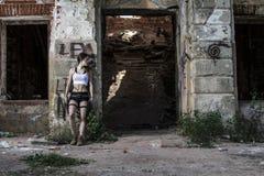 stark flicka Arkivfoto