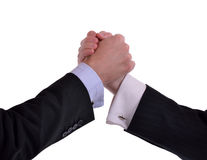 Stark handskakning Royaltyfria Bilder