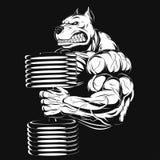 stark hund stock illustrationer