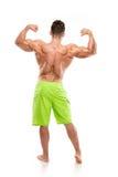 Stark idrotts- mankonditionmodell Torso som visar stora tillbaka muskler Royaltyfria Foton