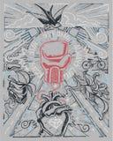 Stark illustration för stag royaltyfri illustrationer