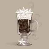 stark kaffeirländare royaltyfri illustrationer