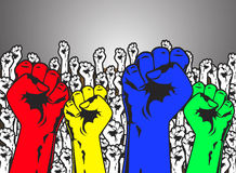 Stark makthandprotest Fotografering för Bildbyråer