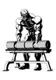 Stark muskulös kroppsbyggare Arkivbilder