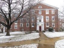 Stark schneien im Washington DC Stockbild