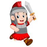 Stark soldat av Roman Empire vektor illustrationer