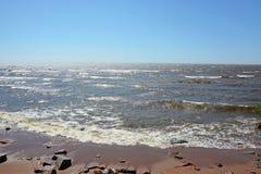 Stark storm på havet royaltyfri bild