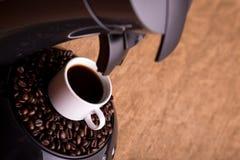 Stark svart coffe Arkivbild