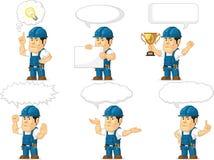 Stark tekniker Mascot 13 Arkivbilder