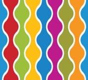 Stark vereinfachte bunte gewellte Linien nahtloses Muster Stockfotos