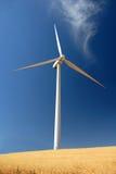 Stark White Power Generating Windmill Stock Images