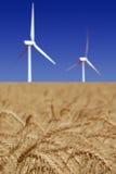 Stark White Power Generating Windmills Royalty Free Stock Images
