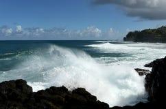 Starka revaströmmar på Kauai Royaltyfria Foton