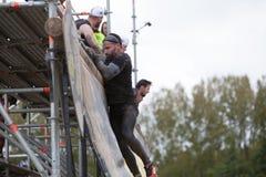 Starka viking kör Ghent, Belgien - April 22 & 23, 2017 arkivfoton