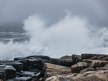 Starke Brandung, Schoodic-Halbinsel, Acadia-Nationalpark Stockbilder