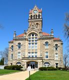 Starke County Courthouse. This is a Spring picture of the Starke County Courthouse in Knox, Indiana. The courthouse was designed by the architects Wing & royalty free stock photo