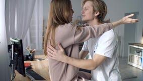 Starke erste Liebe stock footage