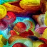 Starke Farbschichten in digital erzeugter multi Farbe lizenzfreies stockbild