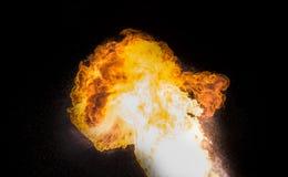 Starke Flamme, wirkliches Foto stockfoto