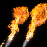 Starke Flamme, wirkliches Foto Stockfotos