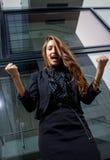 Starke Geschäftsfrau Lizenzfreie Stockbilder