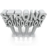 Starke Grundlagen-Wörter auf Granit-Marmorspalten lizenzfreie abbildung