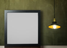 Starke leere Fotorahmen-Deckenleuchte stockfoto