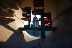 Starke russische Statue Lizenzfreie Stockfotos