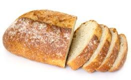 Starke Scheiben des französischen Brotes Stockfoto