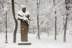 Starke Schneefälle in Kiew, Ukraine, am 5. Februar 2015 Stockbilder