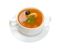 Starke Suppe des Gemüses und des Fleisches Stockfoto