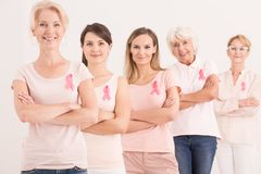 Starke und überzeugte Frauen Stockfoto