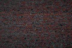 Starke Wand hergestellt von gebackenen Ziegelsteinen lizenzfreies stockbild