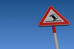 Starke Wind-Verkehrsschild lizenzfreie abbildung